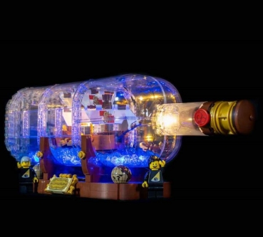 LED-Beleuchtungs-Set für LEGO® Ship in a Bottle #21313