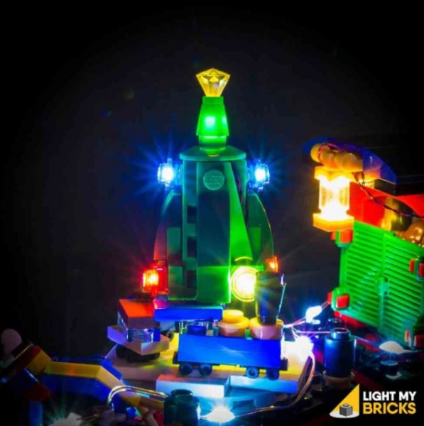 LED-Beleuchtungs-Set für LEGO® Winter Holiday Train #10254 mit Powered Function Cable 1.0 (alte Version)